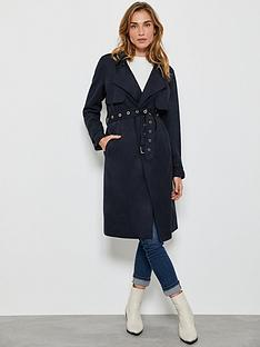 mint-velvet-faux-suede-trench-coat-navy