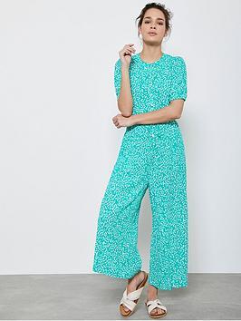 Mint Velvet Mint Velvet Verity Puff Sleeve Jumpsuit - Green Picture
