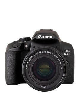 Canon   Eos 850D Slr Camera (Black) With Ef-S 18-135Mm F/3.5-5.6 Is Usm Lens Kit