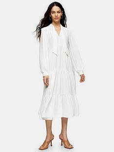 topshop-tiered-chuckon-midi-dress-ivory