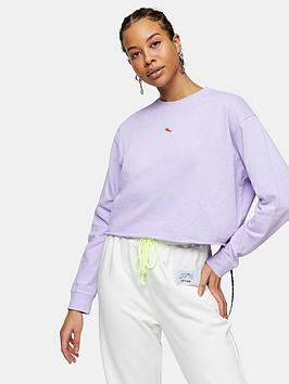 Topshop Topshop Chilli Pepper Sweatshirt - Purple Picture