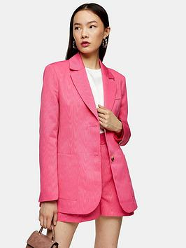 Topshop Topshop Moire Oversized Blazer - Pink Picture