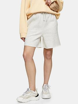 Topshop Topshop Oversized Jogger Shorts - Grey Picture