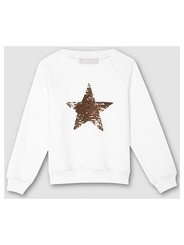 Mintie by Mint Velvet Mintie By Mint Velvet Girls Sequin Star Sweatshirt -  ... Picture