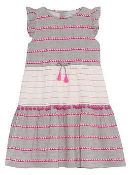 Mintie by Mint Velvet Mintie By Mint Velvet Girls Textured Pom Pom Dress -  ... Picture