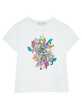 Mintie by Mint Velvet Mintie By Mint Velvet Girls Tiger Print T-Shirt -  ... Picture