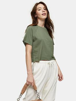 Topshop Topshop Raglan Crop Top - Green Picture