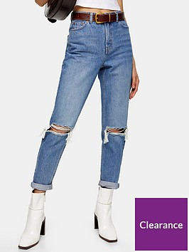 topshop-double-rip-mom-jeans-blue