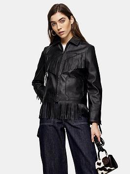 topshop-fringe-pu-jacketnbsp--black
