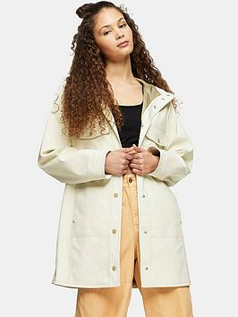 Topshop Topshop Barry Rain Mac - Ecru Picture