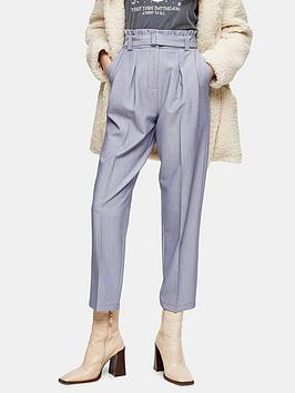 Topshop Topshop Lima Belted Trousers - Blue Picture