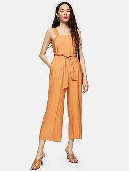 Topshop Topshop Elma Pini Jumpsuit - Yellow Picture