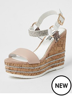 river-island-heatseal-gem-wedge-pink