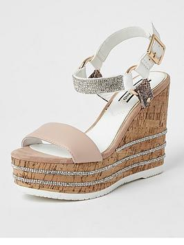 River Island River Island Heatseal Gem Wedge - Pink Picture