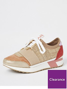 river-island-woven-elasticated-runner-trainers-beige