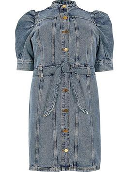 RI Plus Ri Plus Button Down Denim Dress - Blue Denim Picture