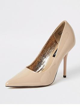 river-island-wide-fit-court-shoe-nude