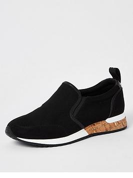 River Island River Island Perforated Cork Runners - Black Picture
