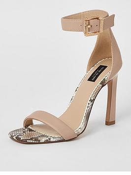 River Island River Island Wide Fit Two-Part Barely There Stiletto Sandal -  ... Picture