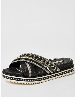 river-island-embellished-cross-strap-flatform-sandals-black