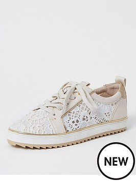 river-island-lace-detail-trainers-white