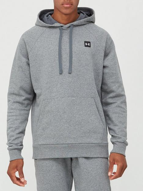 under-armour-trainingnbsprival-fleece-hoodie-darknbspgreywhite
