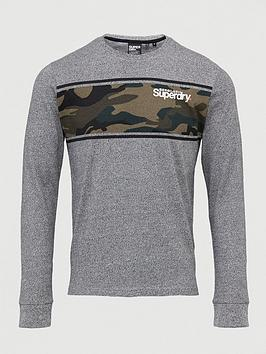 Superdry Superdry Core Logo Camo Stripe Long Sleeved Tee Picture