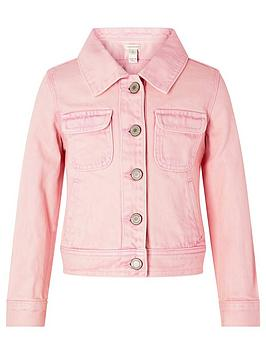 Monsoon Monsoon Girls Primrose Garment Dye Denim Jacket - Pink Picture