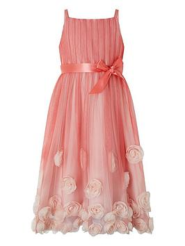 Monsoon Monsoon Girls Sienna 3D Ombre Dress - Pink Picture