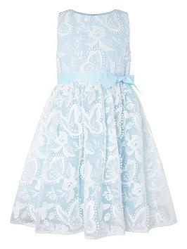 Monsoon Monsoon Girls Sophia Butterfly Lace Dress - Blue Picture
