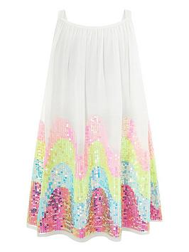 Monsoon Monsoon Girls Sophia Sequin Dress - Multi Picture
