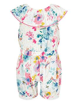 Monsoon Monsoon S.E.W. Baby Girls Clarissa Playsuit - Ivory Picture