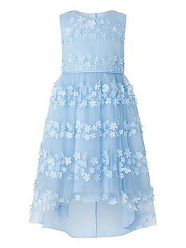 Monsoon Monsoon Girls Pretty Petal Hi Low Dress - Blue Picture