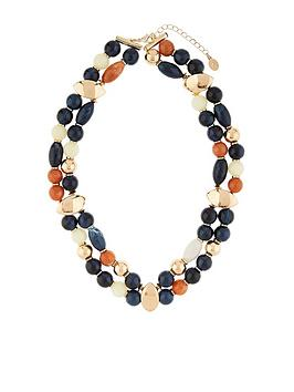 Accessorize   Africana Beaded Collar Necklace - Multi