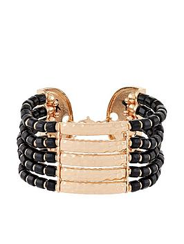 Accessorize Accessorize Statement Africana Bracelet - Gold Picture