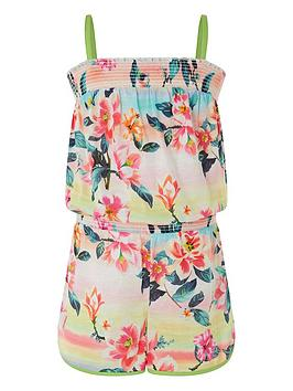 Monsoon Monsoon Girls Active Serena Ombre Playsuit - Multi Picture