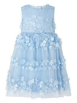 Monsoon Monsoon Baby Girls Pretty Petal Blue Dress - Blue Picture