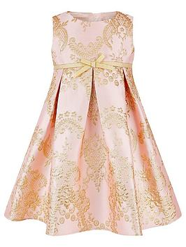 Monsoon Monsoon Baby Girls Rebecca Pink Jacquard Dress - Pink Picture