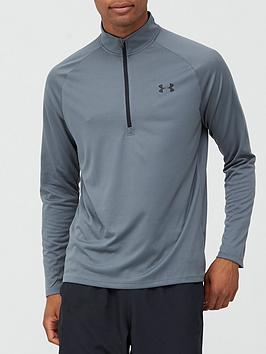 under-armour-tech-20-12-zip-greyblack