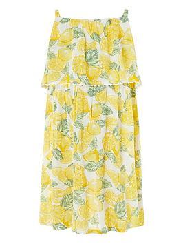 Monsoon Monsoon Girls Layla Lemon Dress - Yellow Picture
