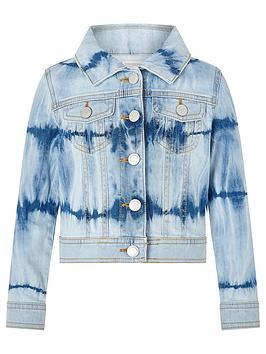 Monsoon Monsoon Girls Tie Dye Denim Jacket - Blue Picture