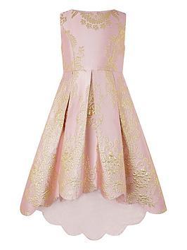 Monsoon Monsoon Girls Rebecca Jacquard Hi Low Dress - Pink Picture