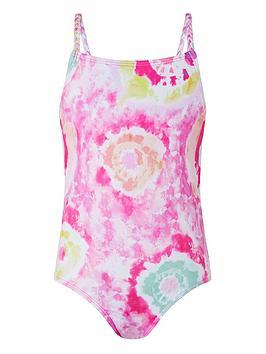 Monsoon Monsoon Girls S.E.W. Tammy Tie Dye Swimsuit - Pink Picture