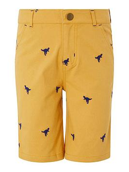 Monsoon Monsoon Boys Evan Embroidered Short - Mustard Picture