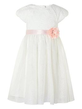 Monsoon Monsoon Girls Melody Sparkle Dress - Ivory Picture