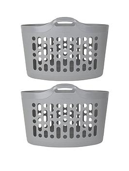 Wham Wham Flexi Store Laundry Baskets - Set Of 2 Picture