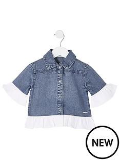 river-island-mini-girls-poplin-frill-denim-jacket-blue