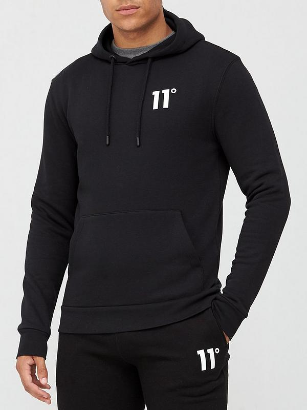 11 Degrees Core Pullover Hoodie Black