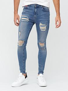 11-degrees-essential-super-stretch-distressed-skinnynbspjeans-mid-blue-washnbsp