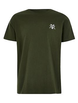 River Island River Island Boys Logo T-Shirt - Khaki Picture